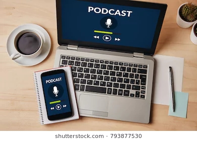 podcast-concept-on-laptop-smartphone-260nw-793877530